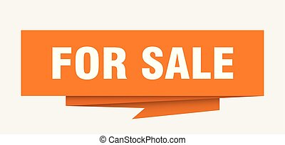 for sale sign. for sale paper origami speech bubble. for...