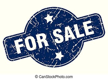 for sale sign - for sale vintage round isolated stamp