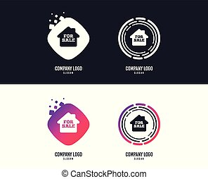 For sale sign icon. Real estate selling. Vector