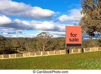 for sale sign in front of a beautiful block in melbourne...