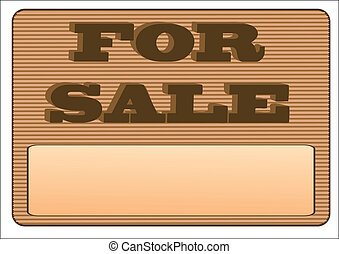 for sale sign isolated on a white background