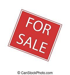 For sale sign, minimalist vector illustration symbol