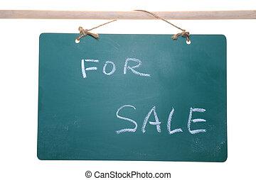 For sale sign on chalkboard