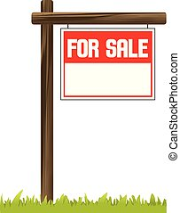 For sale sign on post