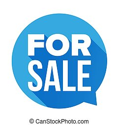 For Sale sign speech bubble vector