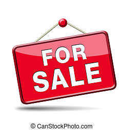 for sale sign - apartment or house for sale banner, selling...