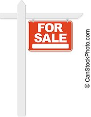 For Sale Sign, With Gradient Mesh, Vector Illustration