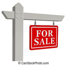 """""""for, sale"""", vastgoed voorteken"""