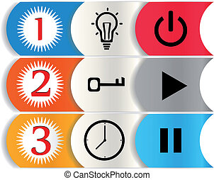 For your content - One two three.Vector abstract background....