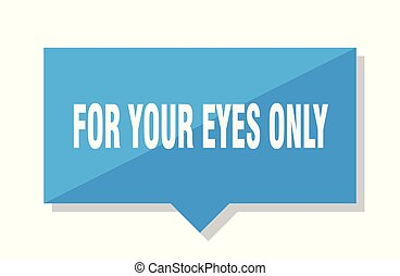 for your eyes only price tag - for your eyes only blue ...
