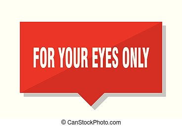 for your eyes only red tag - for your eyes only red square ...