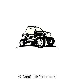 fora-estrada, logotipo, inspiração, car