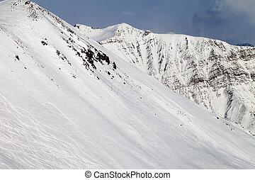 fora-piste, declive esqui