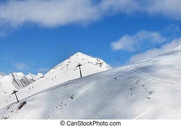 fora-piste, declive, esqui, chair-lift, recurso
