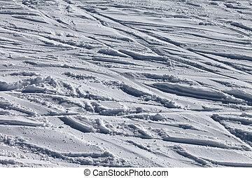 fora-piste, declive, esqui, fundo
