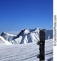 fora-piste, declive, snowboard, neve