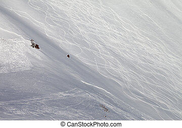 fora-piste, skiing neve