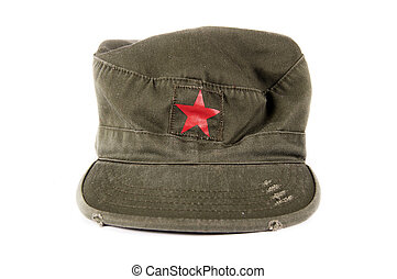 Forage cap - Cuban forage cap with red star isolated on ...