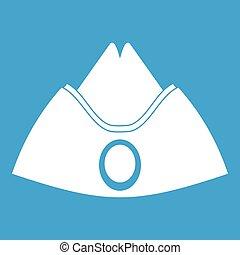 Forage cap icon white