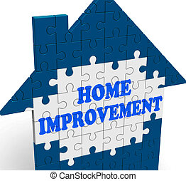 forbedring til hjem, hus, betyder, istandsætte, eller,...