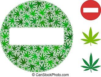 Forbidden Access Collage of Cannabis