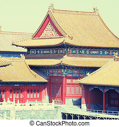 Forbidden City , Beijing, China, instagram effect