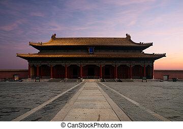 Forbidden City Hall  Supreme Harmony Sunrise Front