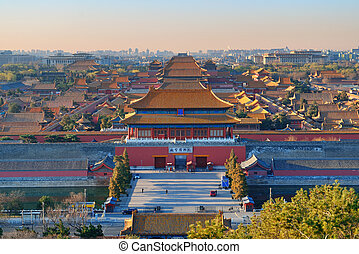 Forbidden city in the morning in Beijing.