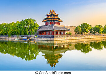Forbidden City of Beijing - Beijing, China at the outer moat...