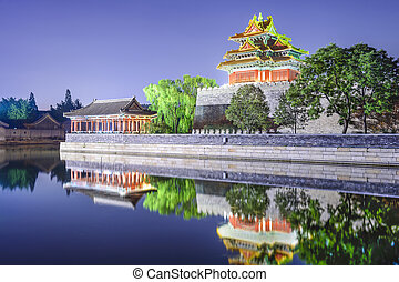 Forbidden City Outer Moat in Beijing, China