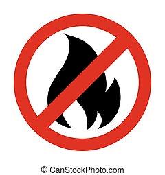 forbidden flame fire  prohibition icon vector graphic