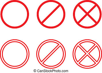 Forbidden signs collection. Vector EPS 8