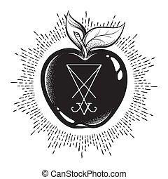 Forbidden fruit with the sigil of Lucifer - Forbidden fruit ...