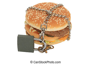 Forbidden hamburger - Hamburger constrained with chain and ...