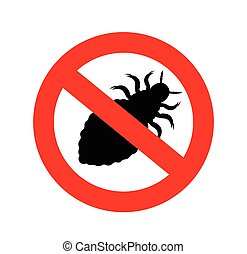 Forbidden Lice Insect Vector Illustration