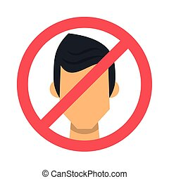 forbidden person without face masks vector illustration ...