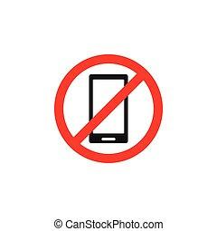 Forbidden phone icon design template vector isolated