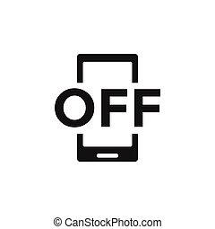 Forbidden phone icon design template vector