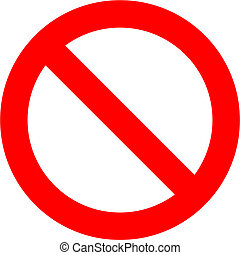 Forbidden sign isolated over white background