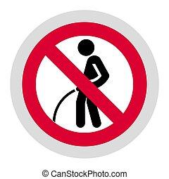 Forbidden sign, modern round sticker