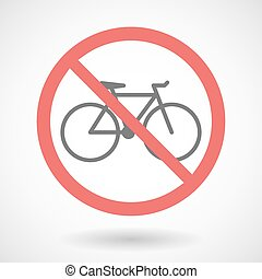 Forbidden signal with a bicycle