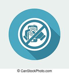 Forbidden smartphone icon