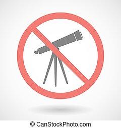 Forbidden vector signal with a telescope
