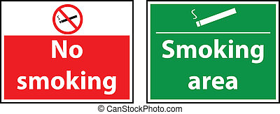 Forbidding and permitting signs No smoking vector