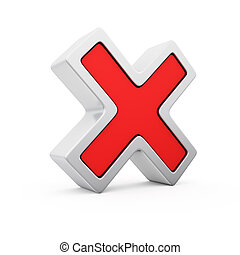 Forbidding sign - Red symbol of negative voting