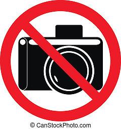 "Forbidding sign ""No Photo"" on white - vector"