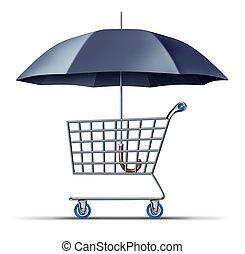 forbruger, garanti, og, beskyttelse