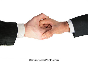 forbundet, to hænder