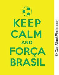 forca, bewaren, brasil, kalm