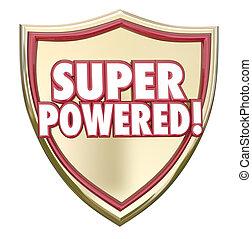 force, capacité, actionné, puissant, mots, superhero, super, bouclier
